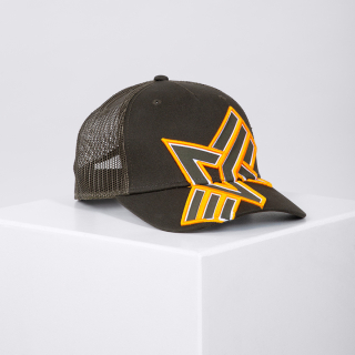 kšiltovka Trucker Cross Cap army green